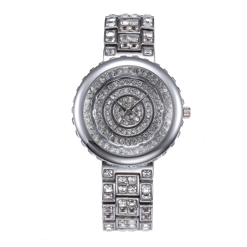 Circle Pattern Dial Quartz Women's Watch