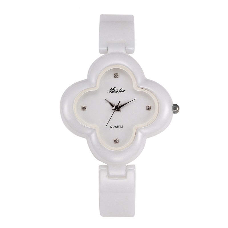 Petal-shaped  Frame Ceramic Women's Watch