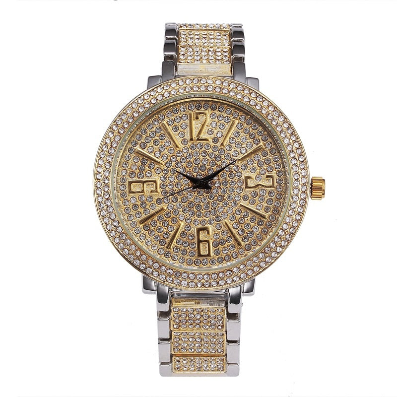 Large Dial Full Of Diamond Women's Watch
