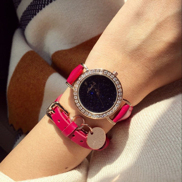 Popular Starry Women's Watch 2pc Set