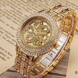 Elegant Flower Pattern Women's Watch