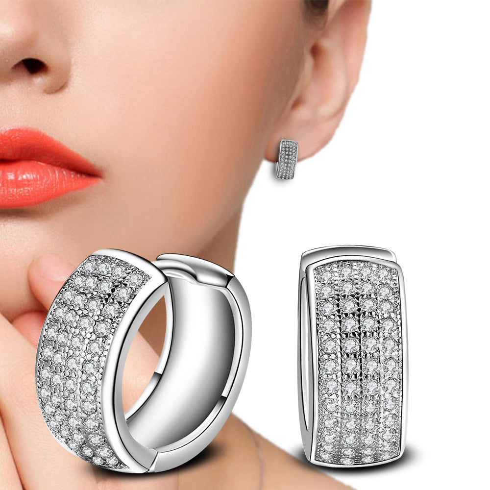 Multi-row AAA Zircon Earrings