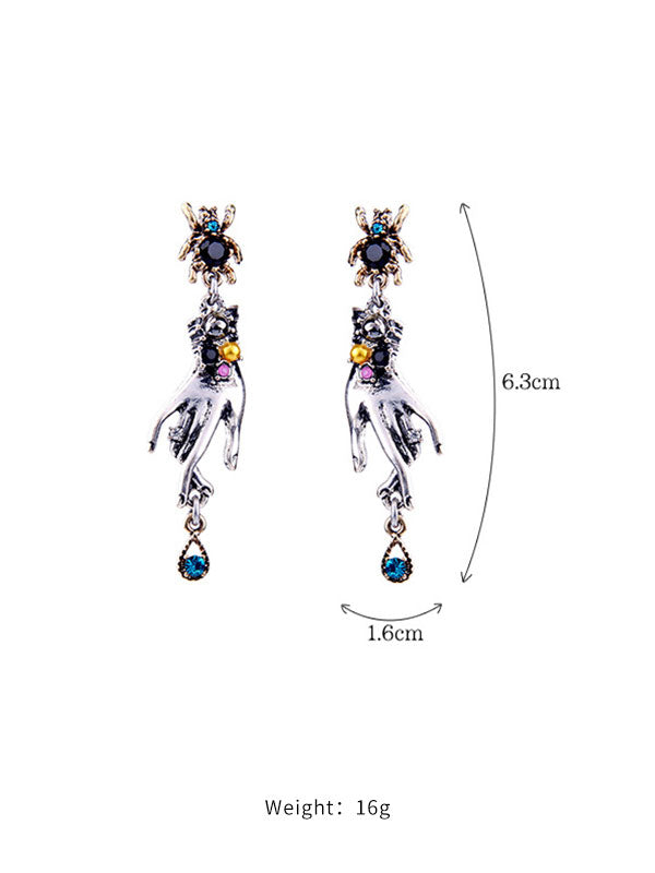 Finger Shape Dark Style Earrings