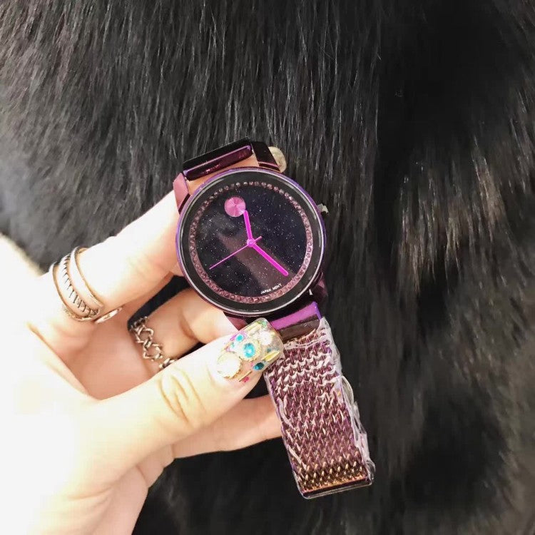 Starry Dial Two Different Straps Women's Watch