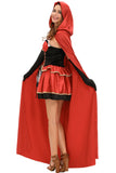Three-piece Fairy Tale Little Red Costume