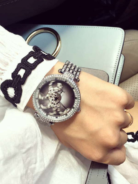 Leopard Pattern Diamond Drill Women's Watch