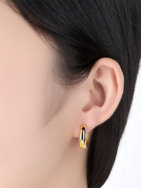 Shining Round Earrings