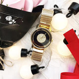 Stainless Steel Mesh Strap Women's Watch