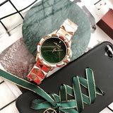 Trendy Green Stainless Steel Women's Watch