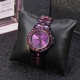 Purple Numberal Scale Women's Watch