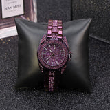 Trendy Diamond With Scale Women's Watch