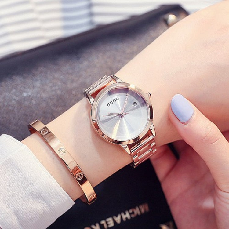 Solid Color Dial With Calendar Women's Watch