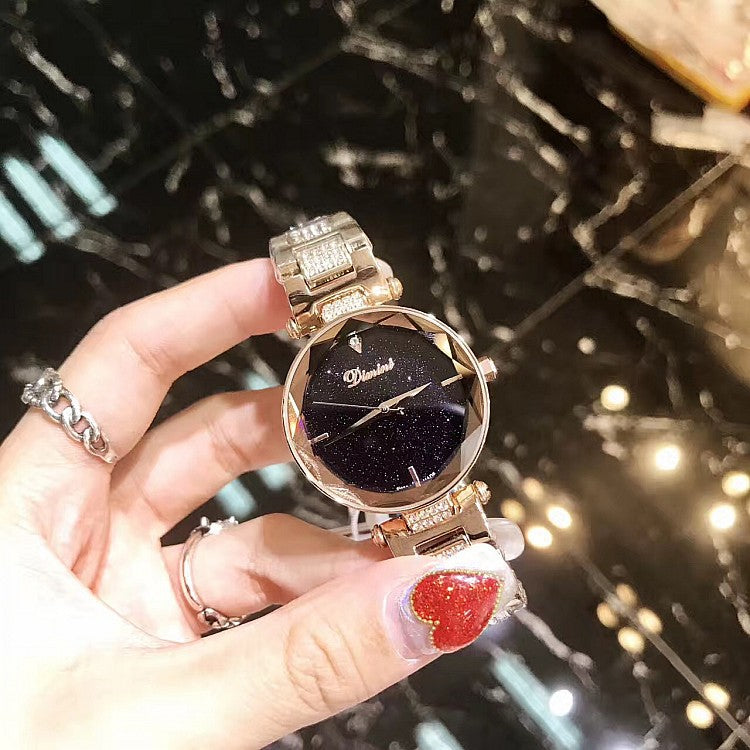 Fashion Starry Sky Dial Women's Watch