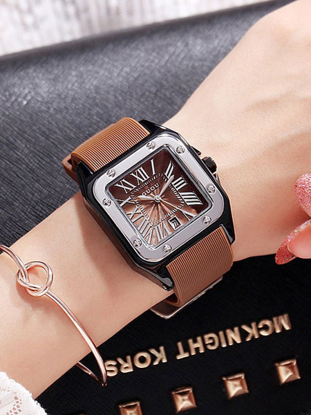 Fashion Square Silicone Watch