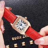 Square Roman Numberals Scale Women's Watch