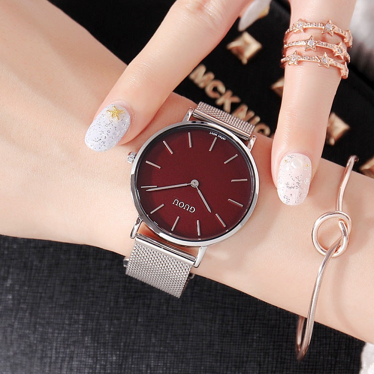 Simple Ultra-thin Mesh Strap Women's Watch