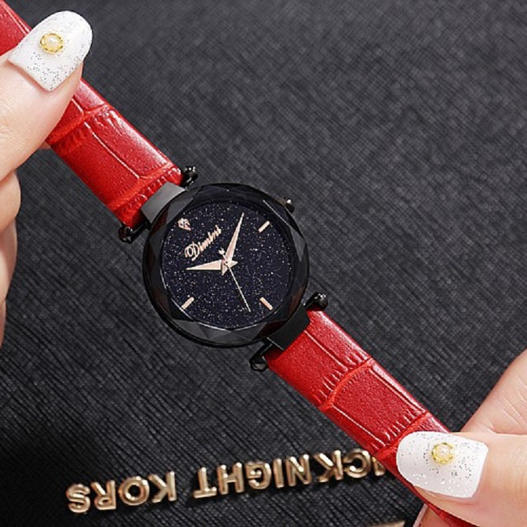 Personality Dial Leather Strap Women's Watch
