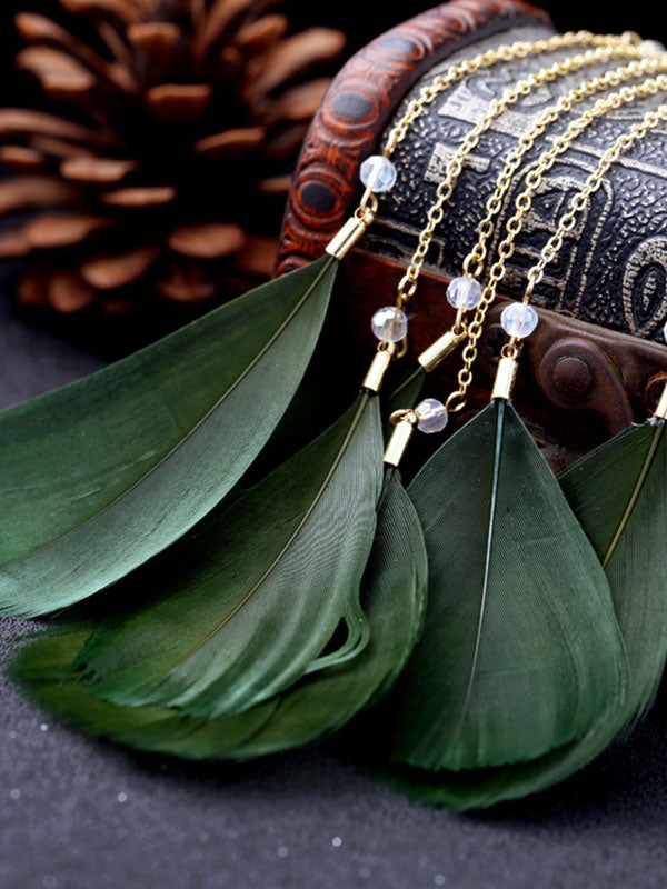 Large Leaf Pattern Exaggerated 1 pcs Earrings