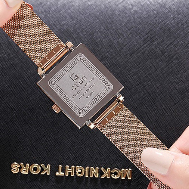 Numberals Scale Mesh Strap Women's Watch