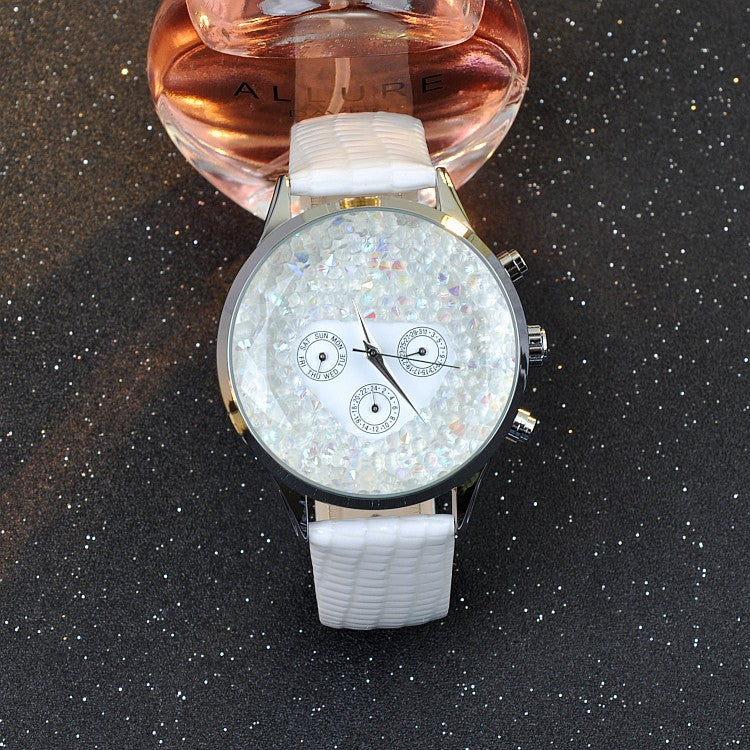 Charming Starry Large Dial Women's Watch
