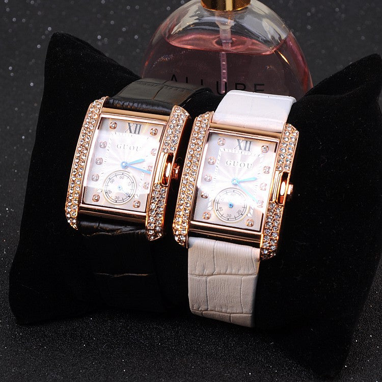 British Style Rhinestone Women's Watch