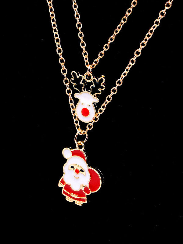 Snowflak/Bell/Christmas Tree Necklace&Earrings Set