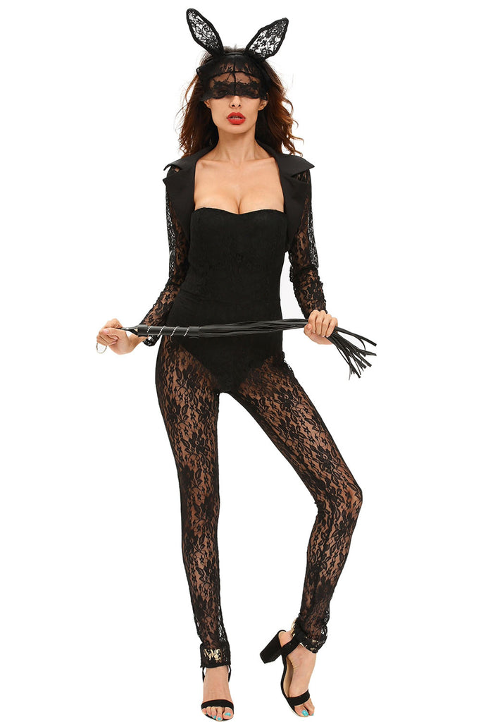 4pcs Long Sleeves Lace Bunny Costume