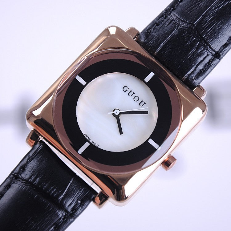 Square Pattern Durable Women's Watch