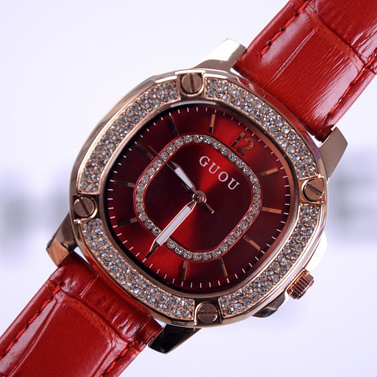 Fashion Square Pattern Durable Women's Watch