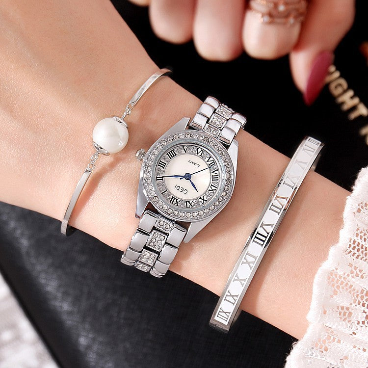 Fashion Steel Stap 3 Pcs Set Women's Watch