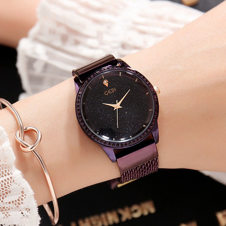 Starry Sky Simple Dial Women's Watch