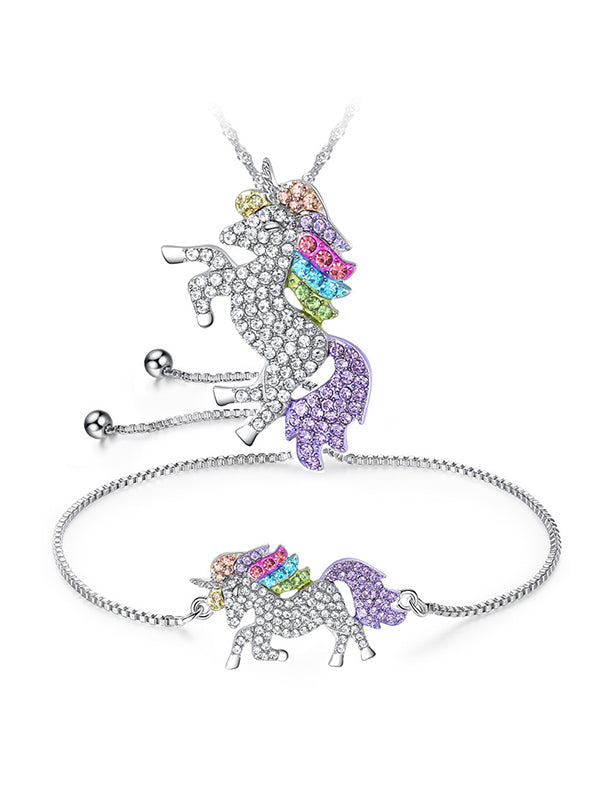 Unicorn Bracelet&Necklace Set