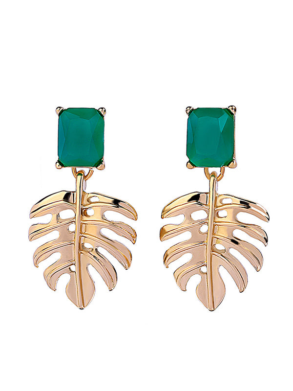 Creative Palm Leaf Pattern Earrings