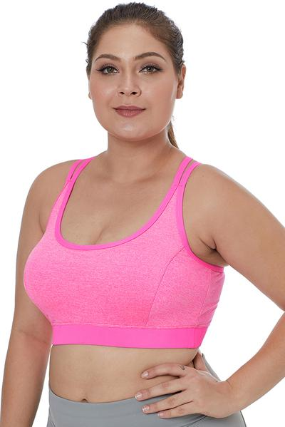 Double Straps Heathered Sports Bra