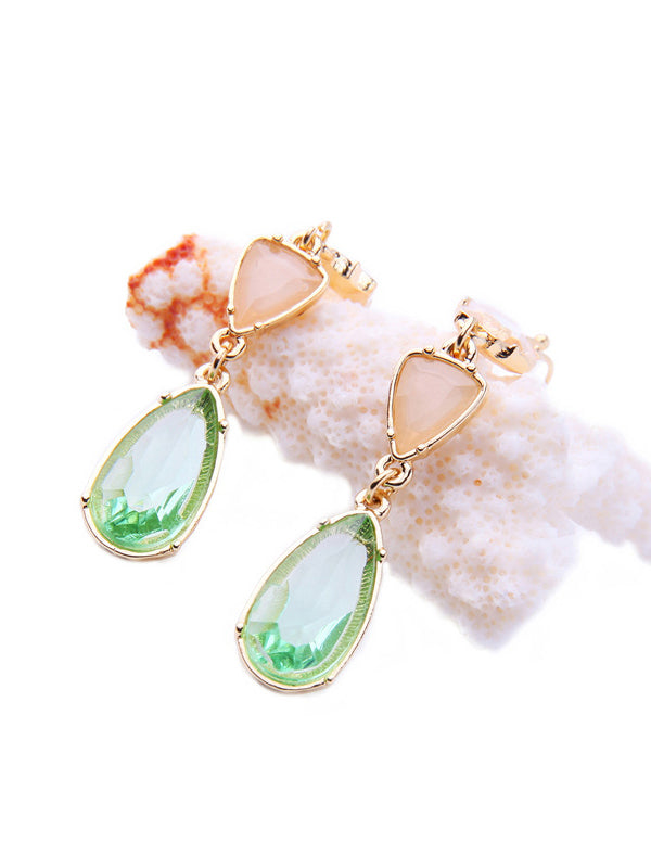 Irregular Water Drops Pattern Earrings