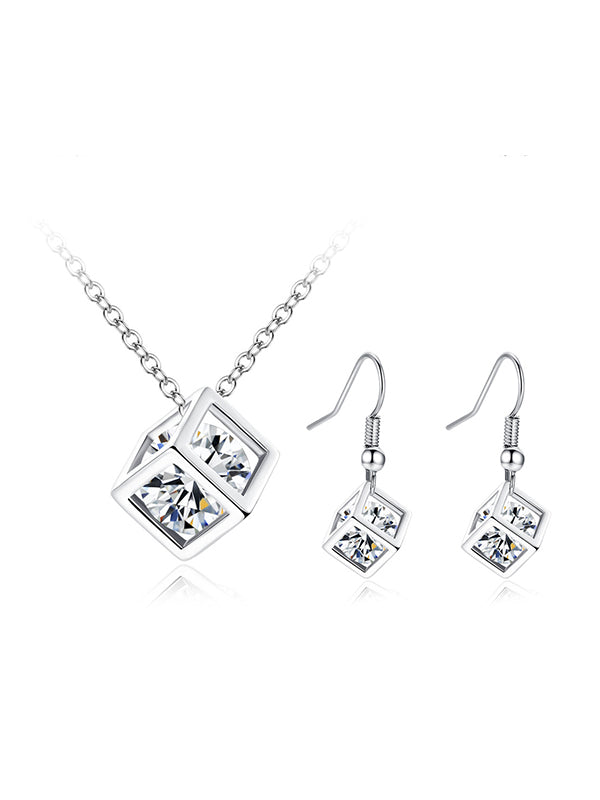 Simple Rubik's Cube Zircon Set