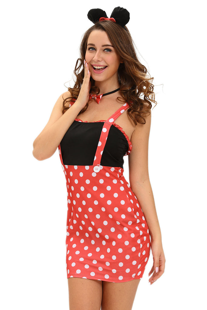 Four-piece Sexy Darling Miss Minnie Mouse Costume
