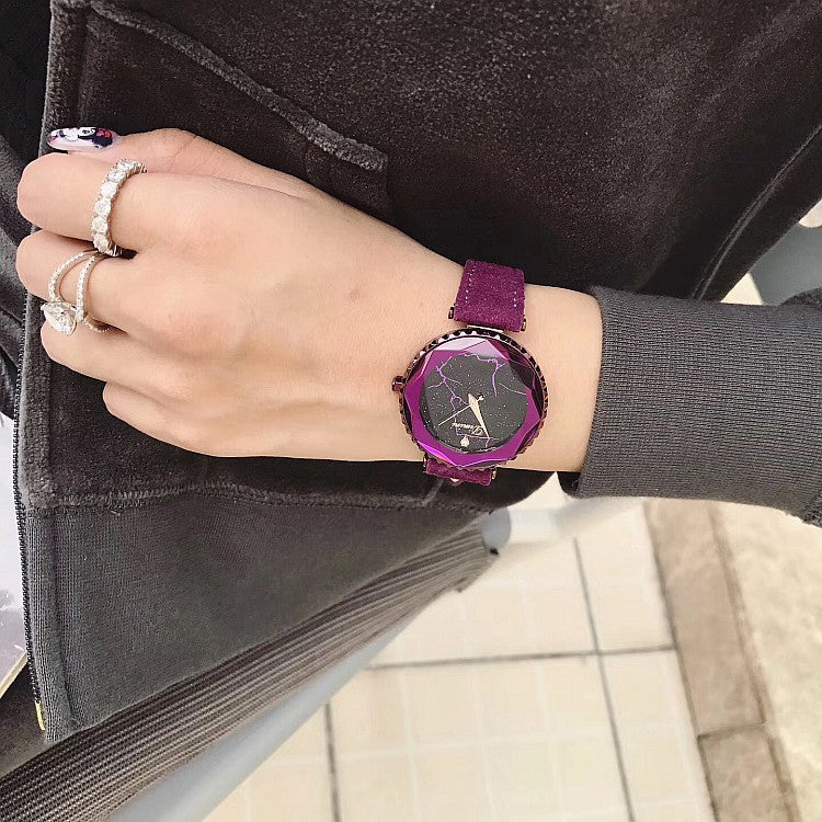 Starry Chassis Lightning Pattern Women's Watch