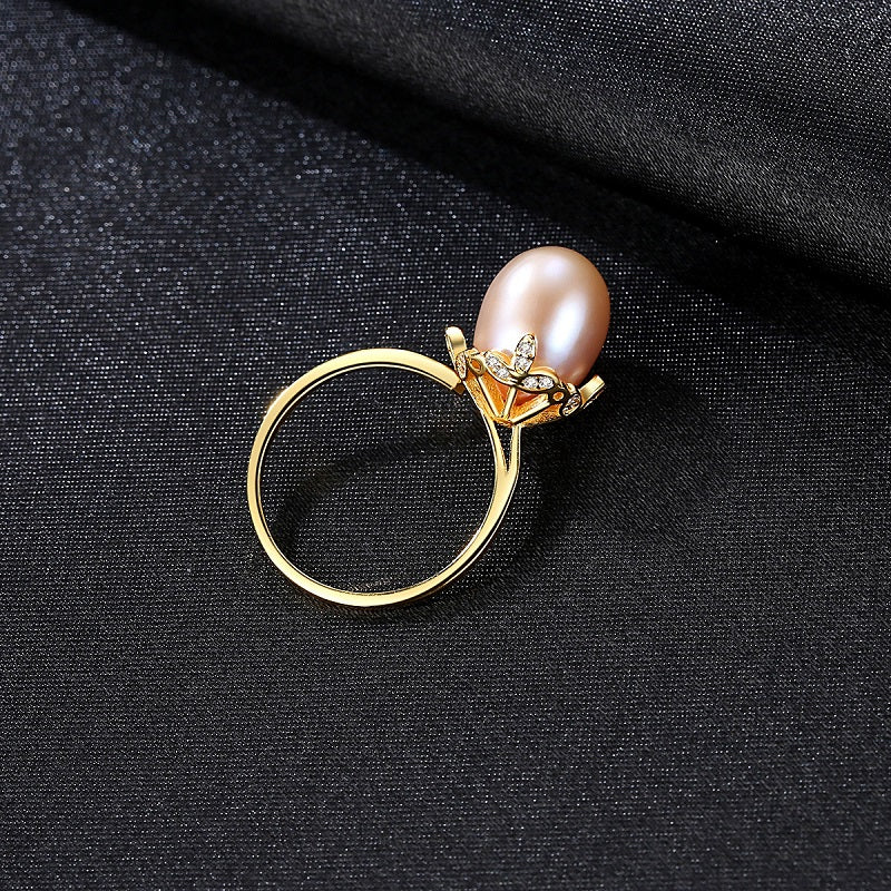 Natural Pearl Open Ring