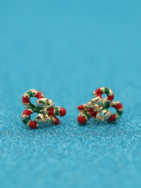 Christmas Walking Stick Earrings