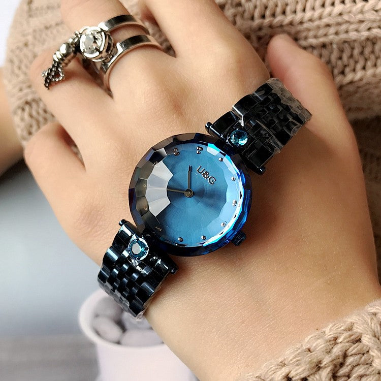 Personality Stainless Steel Strap Women's Watch