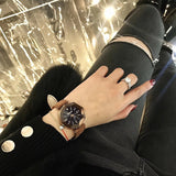 Starry Sky Rhombus Glass Frame Women's Watch
