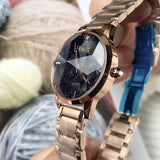 Starry Chassis Stainless Steel Strap Women's Watch