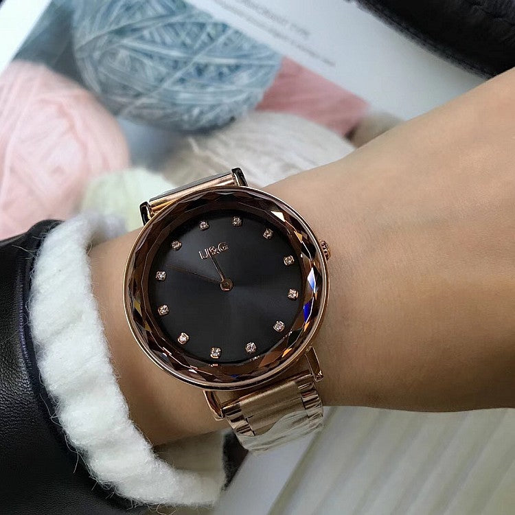 Round Dial With Scale Women's Watch