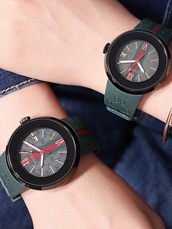 Black Shell Silicone Watch