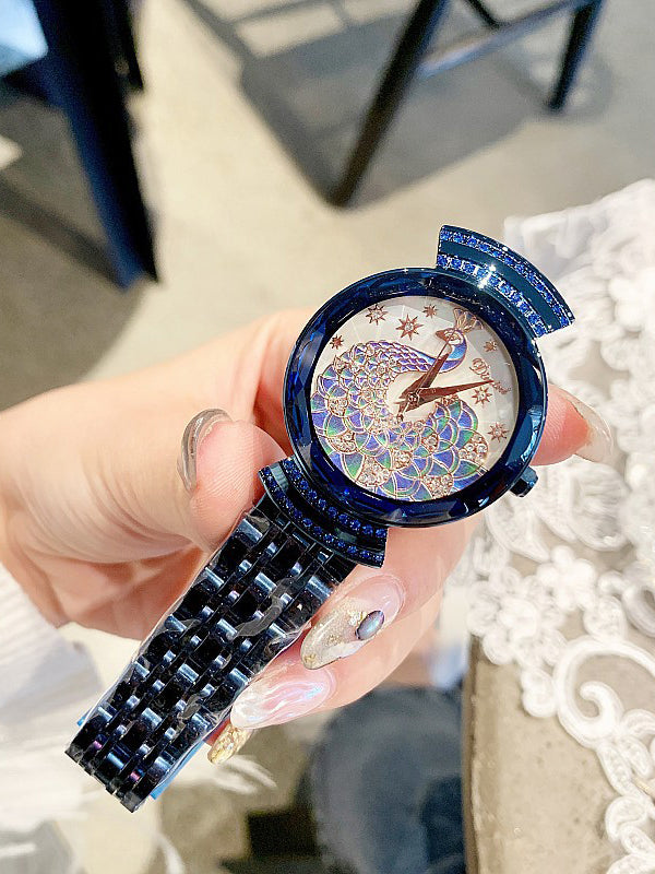 Peacock Pattern Stainless steel Women's Watch