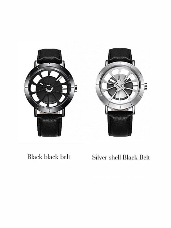 Men's Watch Simple Hallow gear dial milan strap waterproof quart watch