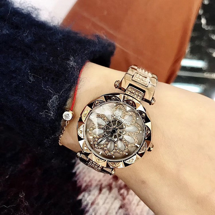 Fashion Rotatable Dial Women's Watch