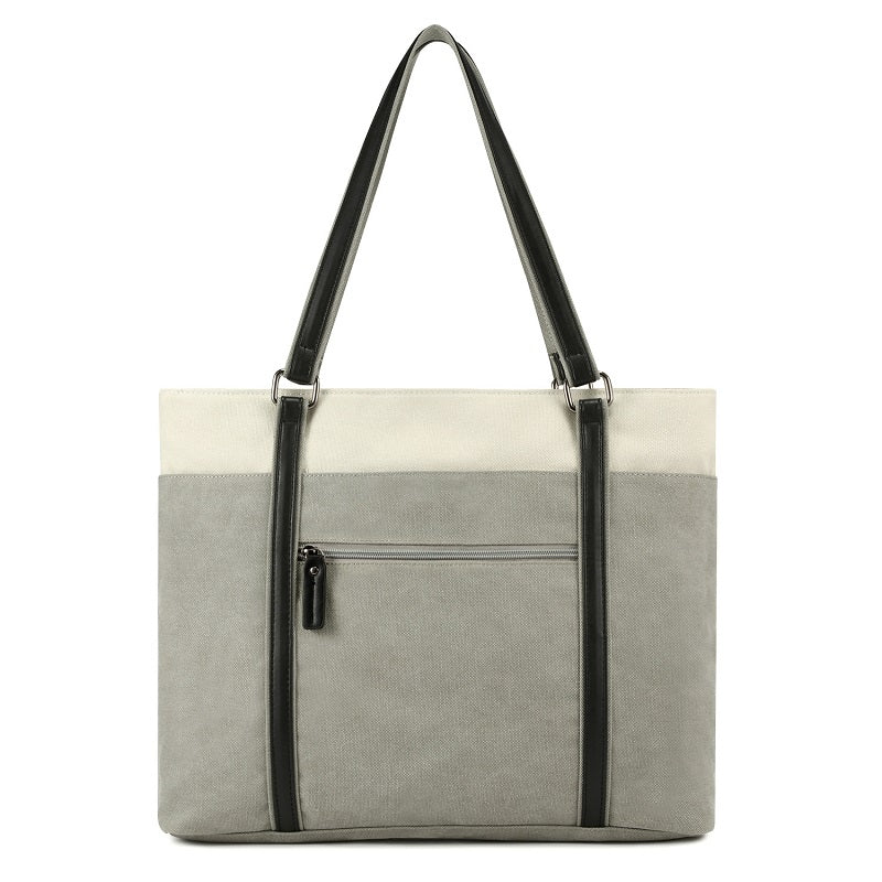 Retro Solid Color Canvas Handbag