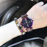 Women's Watch Roman Scale Starry surface Stainless Steel Strap elegant watch